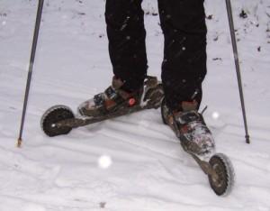 Cross-Skating auf Schnee