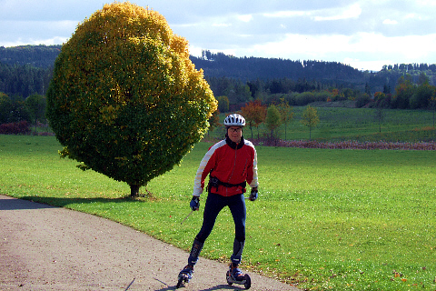 Cross-Skating im Herbst