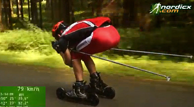 Nordic Cross Skates downhill