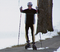 Cross-Skating im Winter