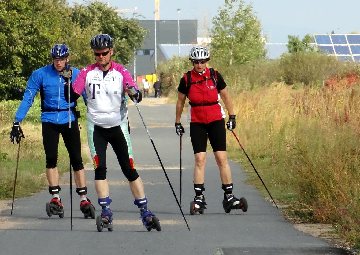Cross-Skating am Weiterstädter Solarpark