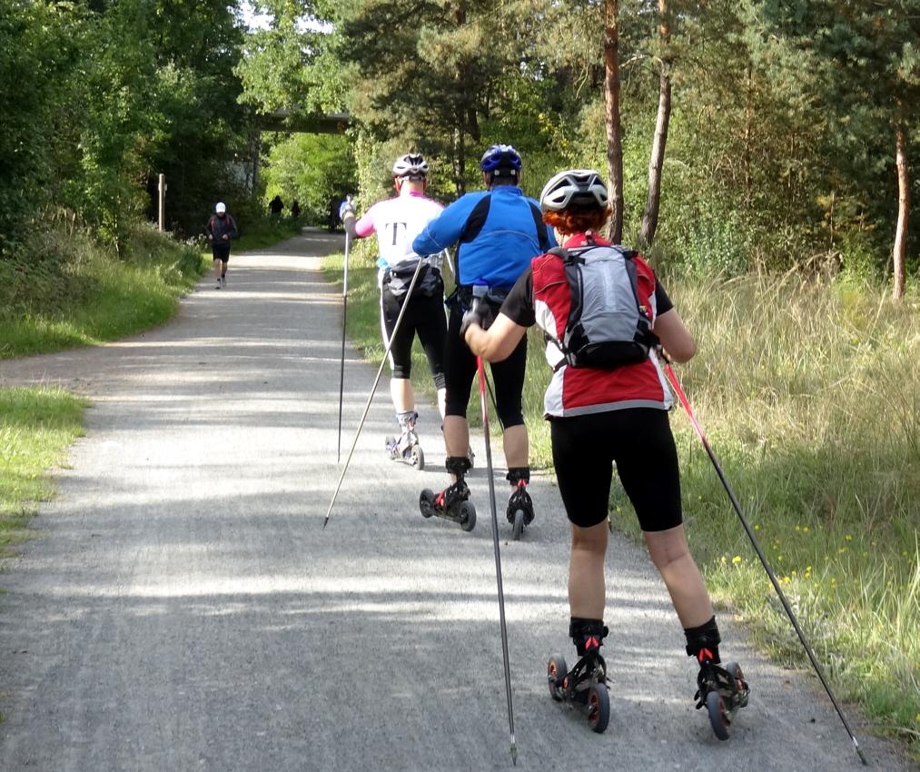 Cross-Skating auf der Riedbahn Tour bei Griesheim