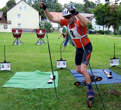Spannung beim Modernen Biathlon
